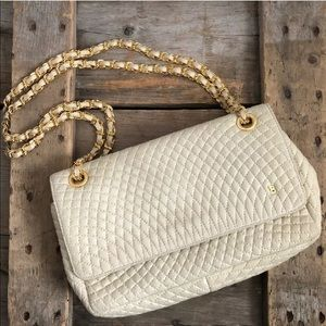 VTG Bally Cream Quilted Chain Crossbody